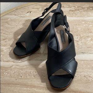 Prada Criss Cross Ankle Sandals